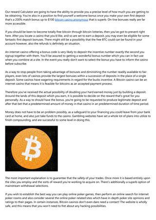 คาสิโนออนไลน์ Bitcoin โบนัสจะกล่าวว่า belgie